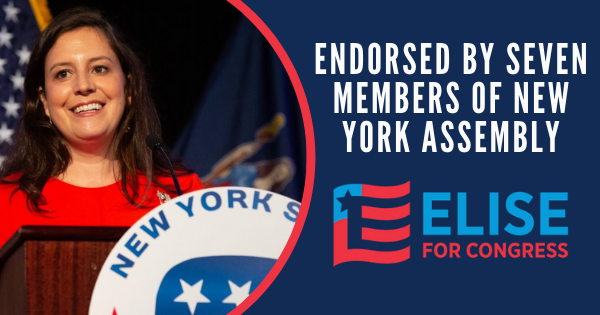 STEFANIK ENDORSED BY SEVEN MEMBERS OF NEW YORK ASSEMBLY